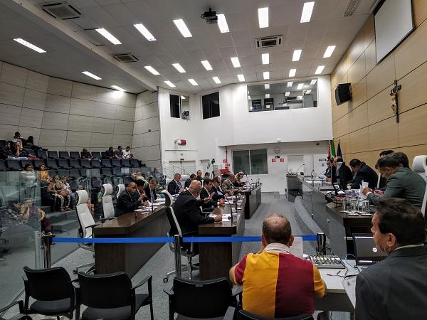 Plenário da Câmara Municipal de Guarujá. Crédito: Portogente