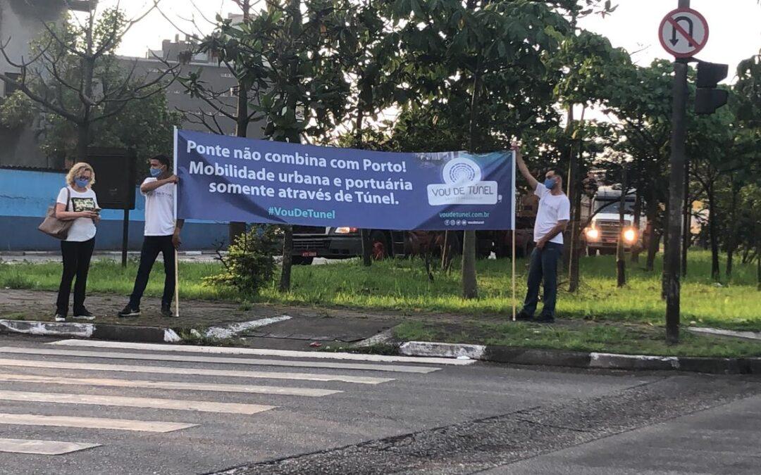 Campanha Vou de Túnel realiza ação no Porto e reforça apoio do governo federal